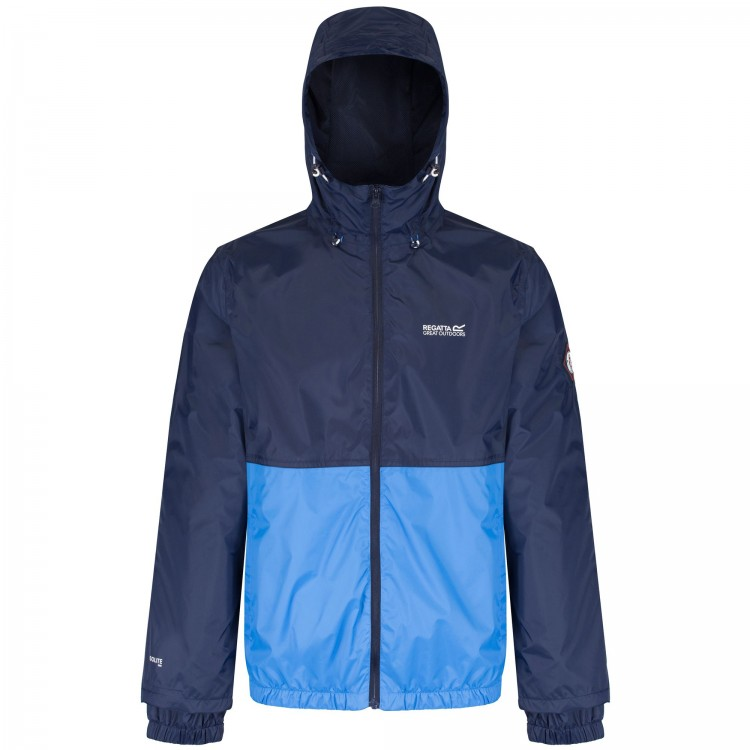 Regatta Mens Akka Jacket Navy/Coast Blue - M