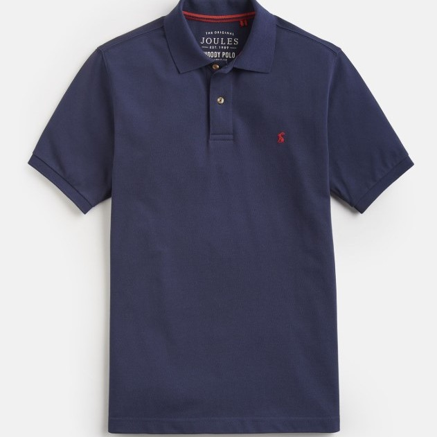 Joules Mens Woody Classic Fit Polo Shirt - French Navy - L