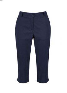 Regatta Ladies Maleena Capri Trousers -  Navy - UK 10