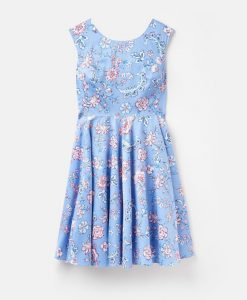 Joules Ladies Amelie Dress - Blue Indienne Floral - UK 10