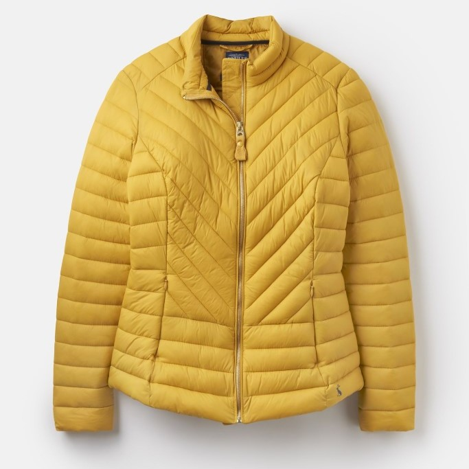 Joules Ladies Elodie Quilted Jacket - Antique Gold - UK 10