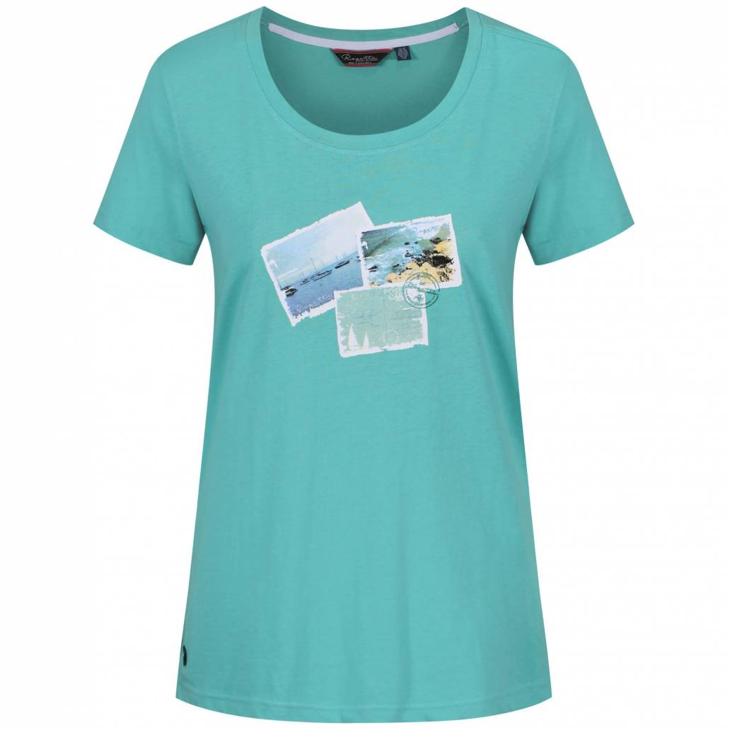 Regatta Ladies Filandra II T Shirt - Jade Green - UK 14