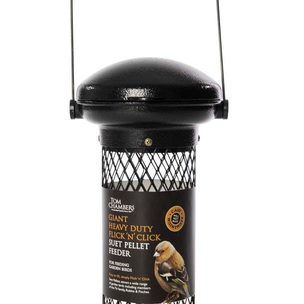 Tom Chambers Giant Heavy Duty Flick 'n' Click Suet Feeder