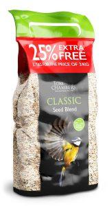 Tom Chambers Classic Seed Blend 3kg + 25%