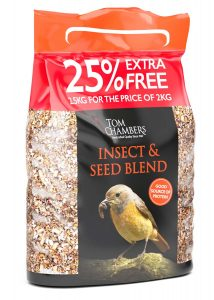 Tom Chambers Insect 'n' Seed Blend - 25% FOC - 2.5kg