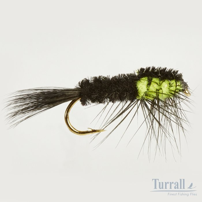 Turrall Montana Flu.Green Weighted Nymph 10