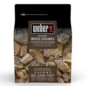 Weber Hickory Wood Chunks 0.7kg  17619