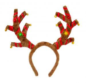 Premier B-O Flashing Antlers Head Band with Jingle Bells