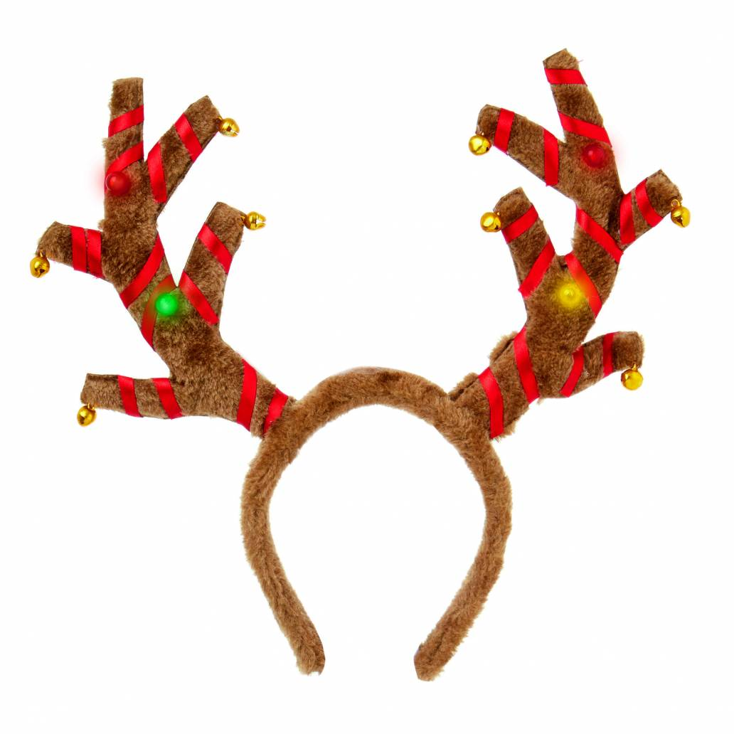 Premier B-O Flashing Antlers Head Band with Jingle Bells