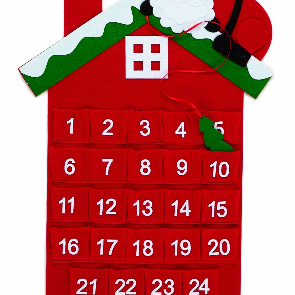 Premier 61x41cm Santa House Advent Calendar