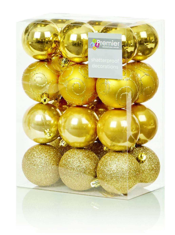 Premier 24 x 60mm Multi Finish Balls - Gold