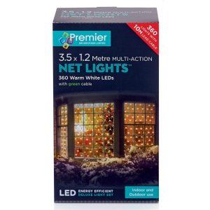 Premier 3.5x1.2m 360 M-A LED Net Light - Warm White