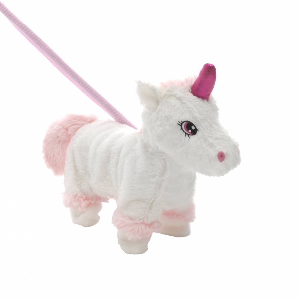 Festive 28cm walking christmas unicorn toy