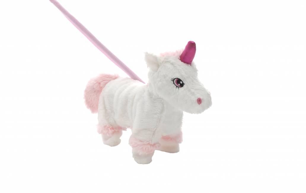 Festive 28cm walking christmas unicorn toy