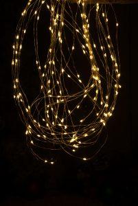 Festive 100cm branch light - copper wire amber LEDs