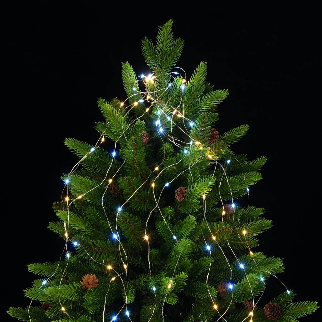Festive 100cm branch light - Silver Wiire 80 White/Warm White LEDs