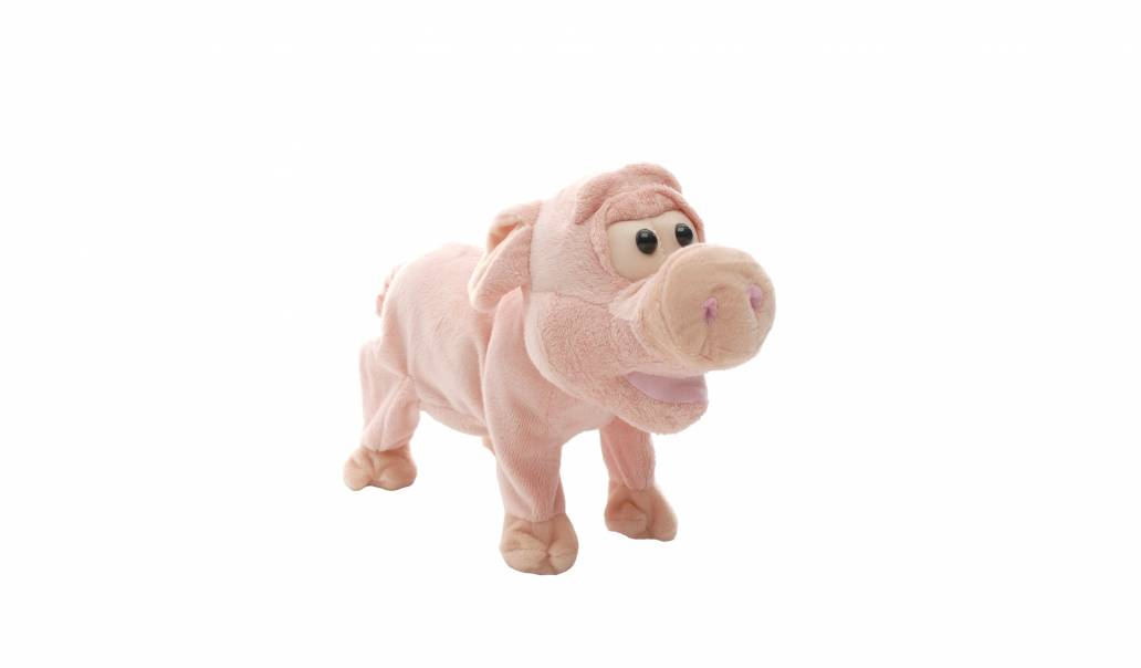 Festive 22cm snorting christmas pig