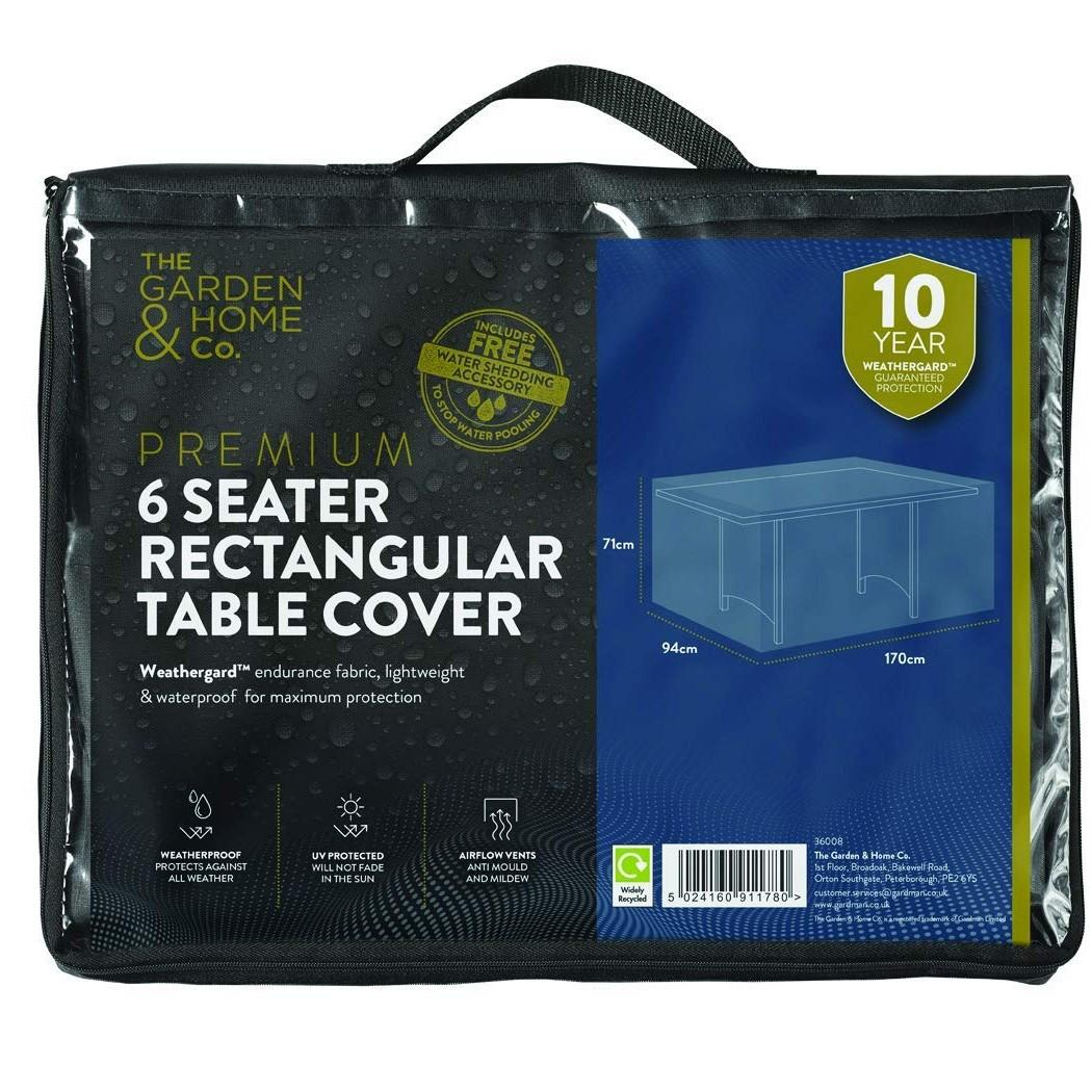 Gardman 6 Seat Rect Table Cover Green 37008