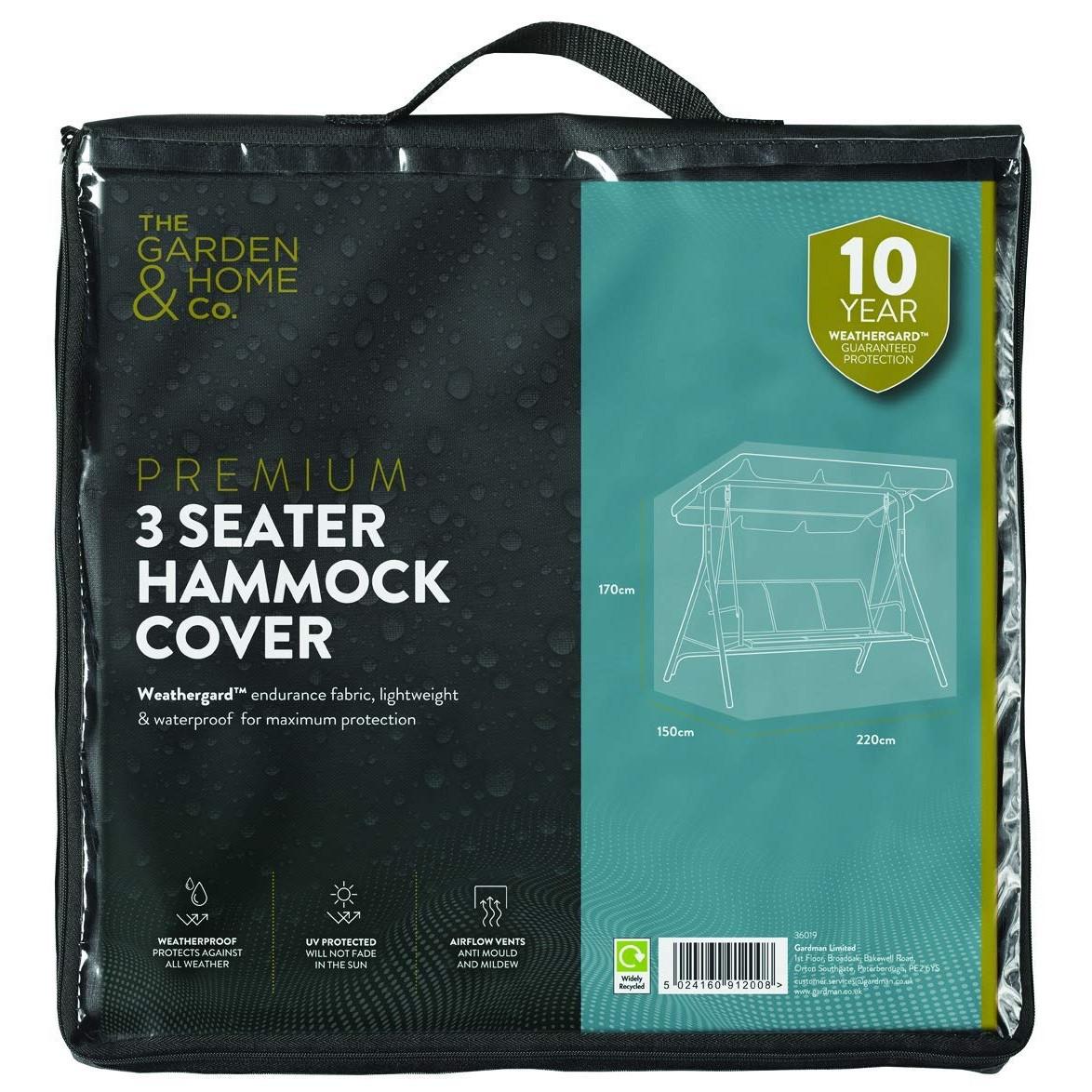 Gardman 3 Seat Hammock Cover Green 37019