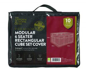 Gardman 6 Seat Rect Cube Cover Green 37033