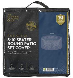 Gardman 8-10 Seat Round Set Cover Grey 38003