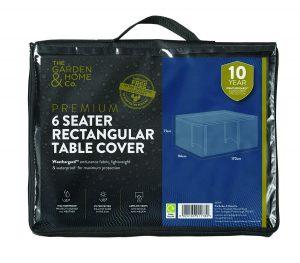 Gardman 8 Seat Rect Table Cover Grey 38009
