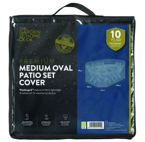 Gardman Med Oval Set Cover Grey 38026
