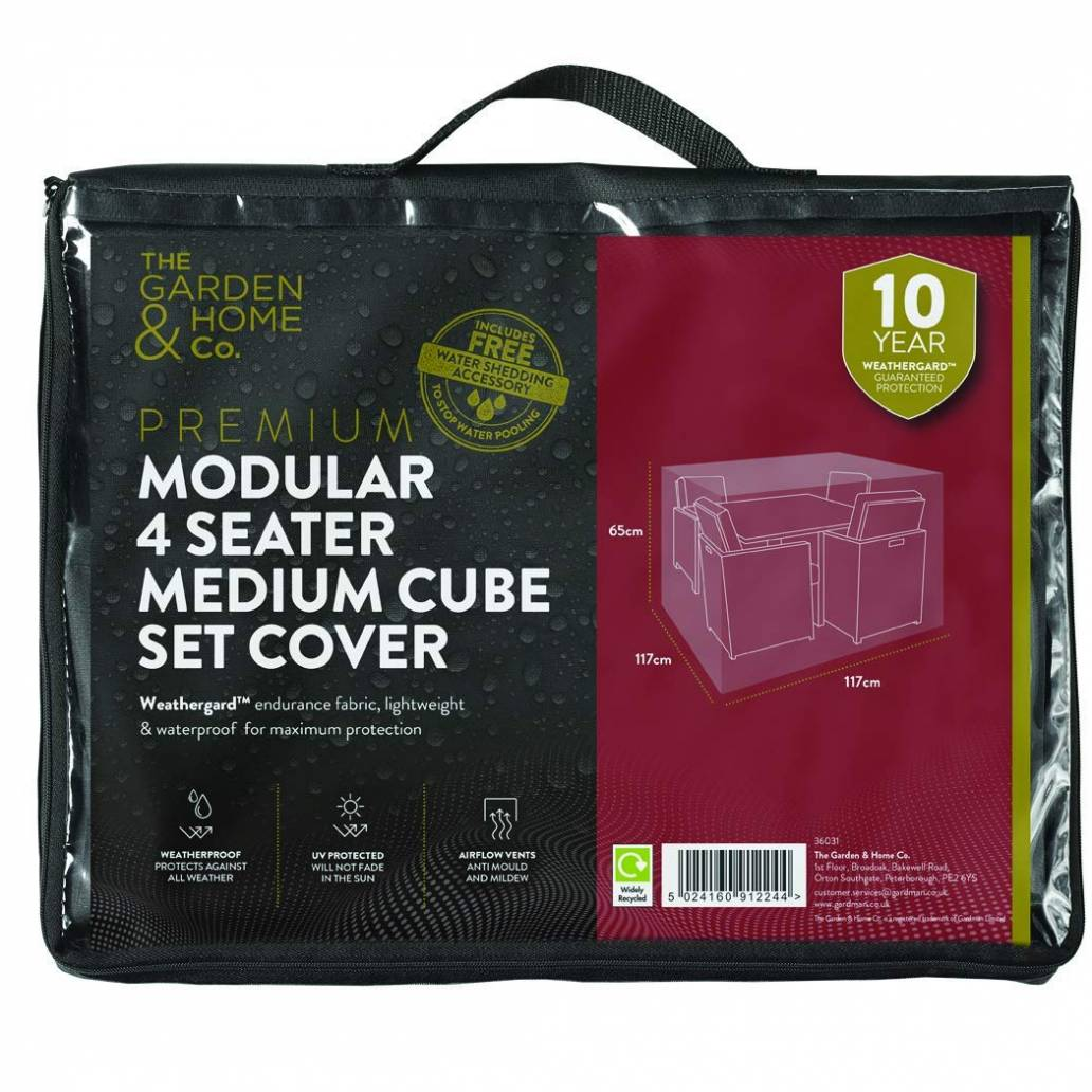 Gardman 4 Seat Med Cube Cover Grey 38031