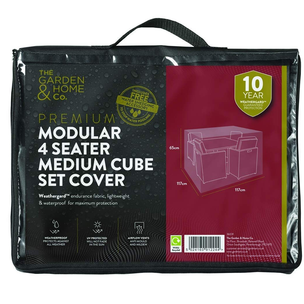 Gardman 4 Seat Med Cube Cover Grey 38031