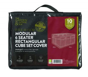 Gardman 6 Seat Rect Cube Cover Grey 38033
