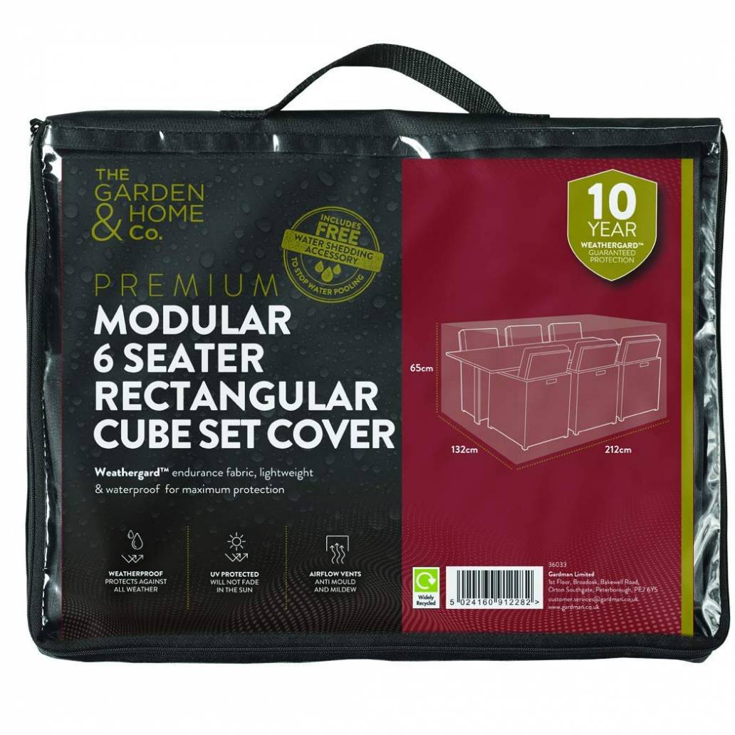 Gardman 6 Seat Rect Cube Cover Grey 38033