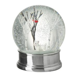 Heaven Sends Winter Snow Globe With Small Dog
