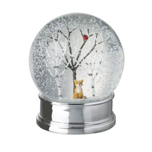 Heaven Sends Snow Globe With Tree And Fox Inside