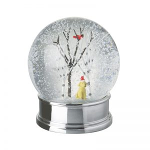 Heaven Sends Snow Globe With Dog With Hat On