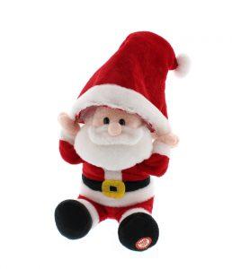 Festive 29cm Animated Hat Moving Santa