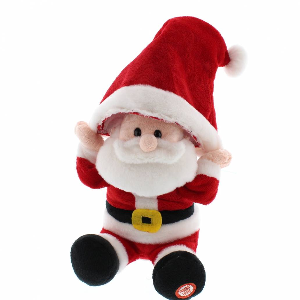 Festive 29cm Animated Hat Moving Santa