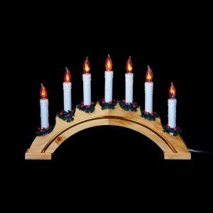 Premier 7L Flicker Rainbow Candle Bridge - Natural Colour