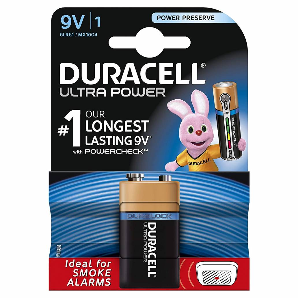 Duracell 9V 1Pk Batteries - Ultra Power