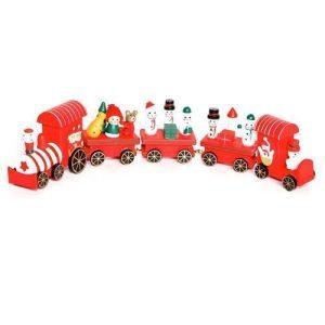 Premier 40cm 5-Piece Wood Train with Carriages