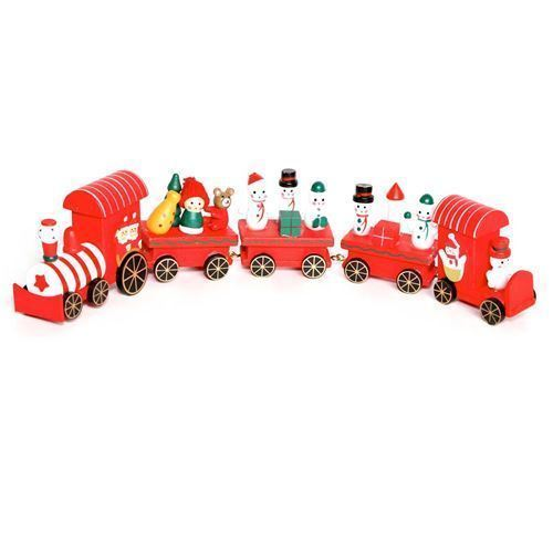 Premier 40cm 5-Piece Wood Train with Carriages