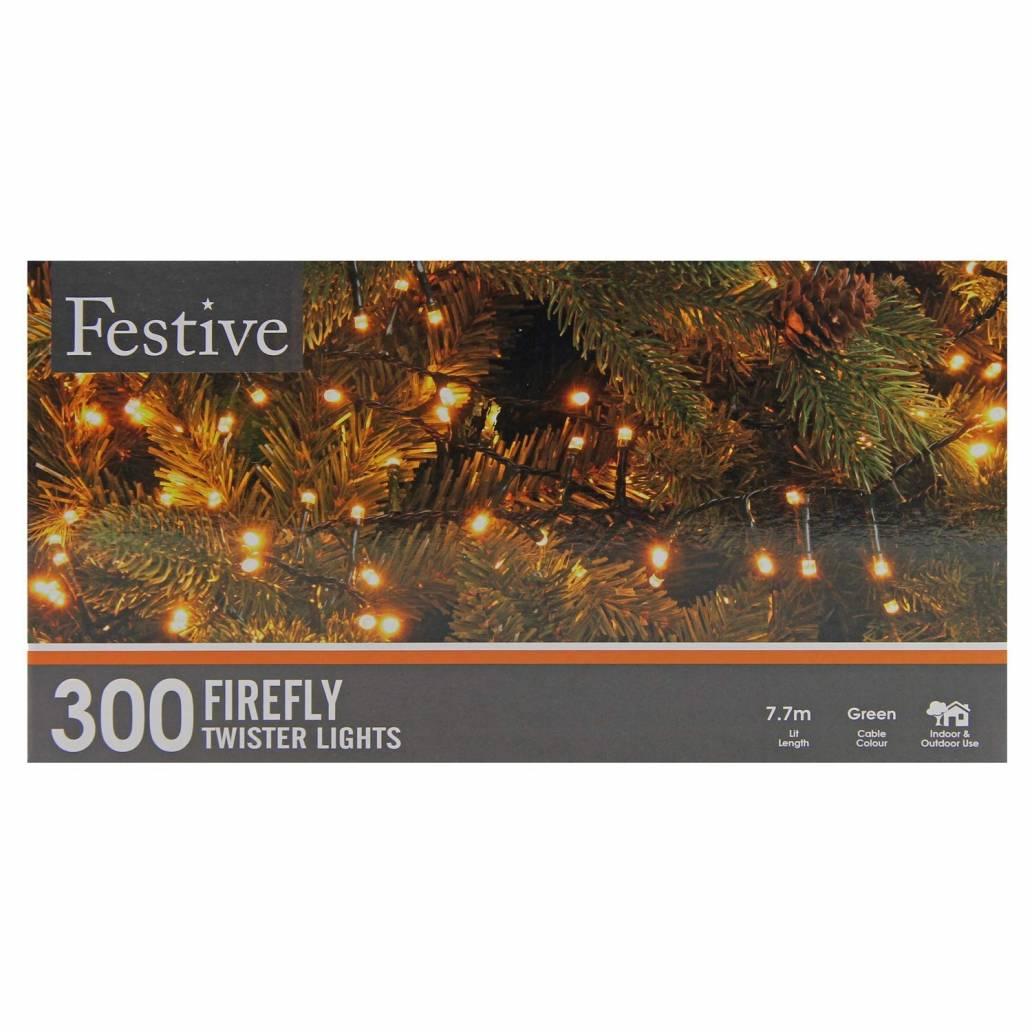 Festive 300 Firefly Twister Lights