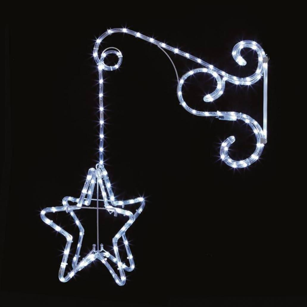 Premier 60cm Wall Hanging Star w 132 LEDs Incl 8 Flashing