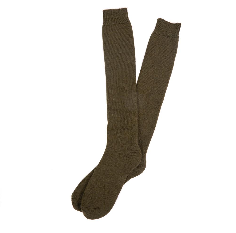 Barbour Wellington Knee Length Socks - Olive Green - L