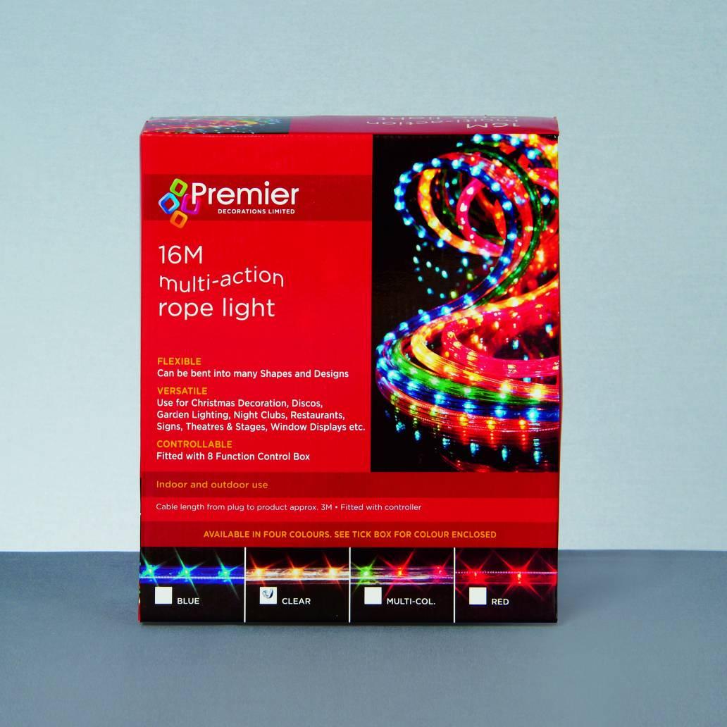 Premier 16m M-A Rope light - Clear