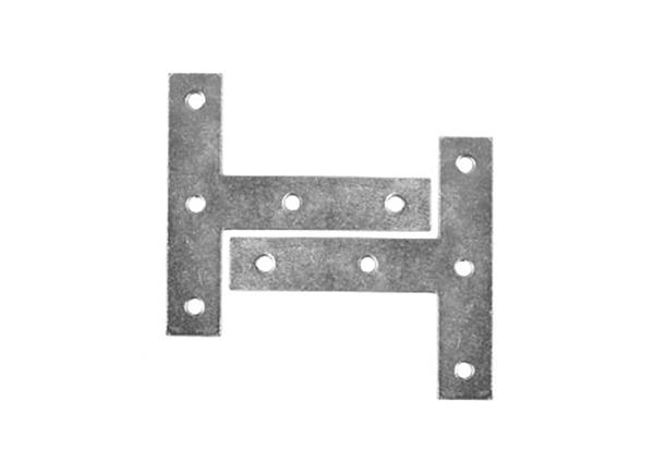 SupaFix Repair Tee Plates Zinc Plated - 75mm - Pack 5