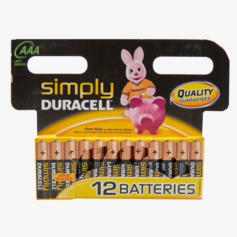 Duracell S539 Simply Pack AAA Batteries