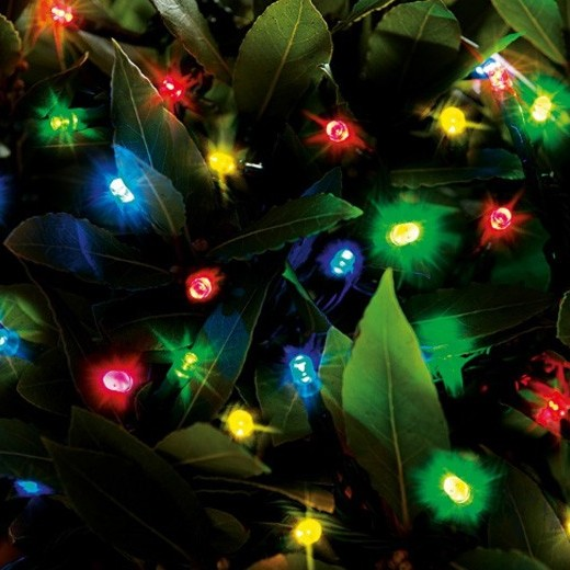 Cole & Bright Solar 50 LED String Lights - Multicoloured