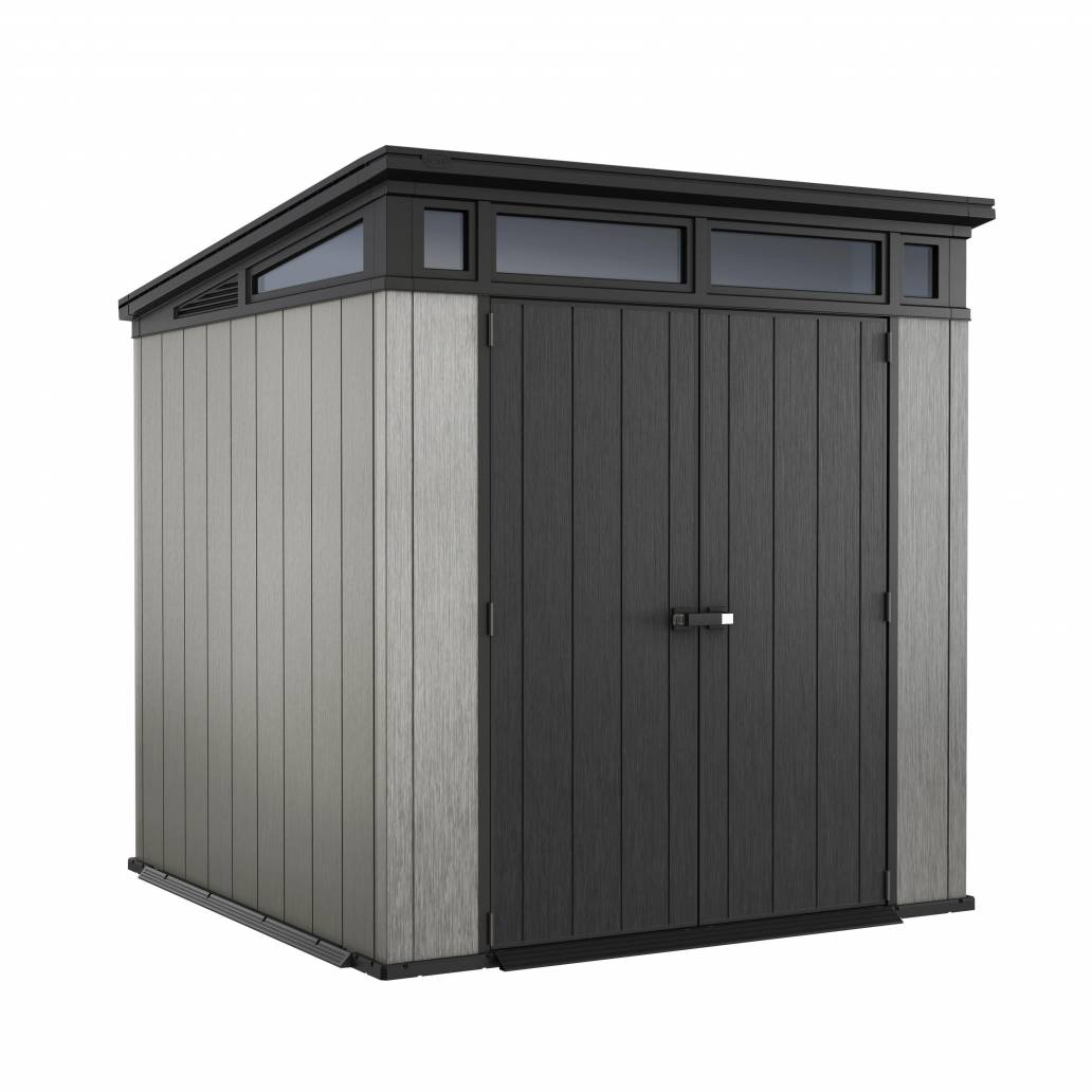 Keter Artisan 7x7 Pent Shed - Brownish Grey