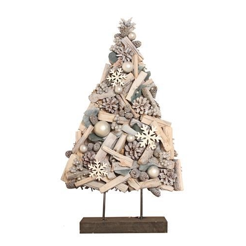 Enchante Winters Mist Snowflake Tree 52cm