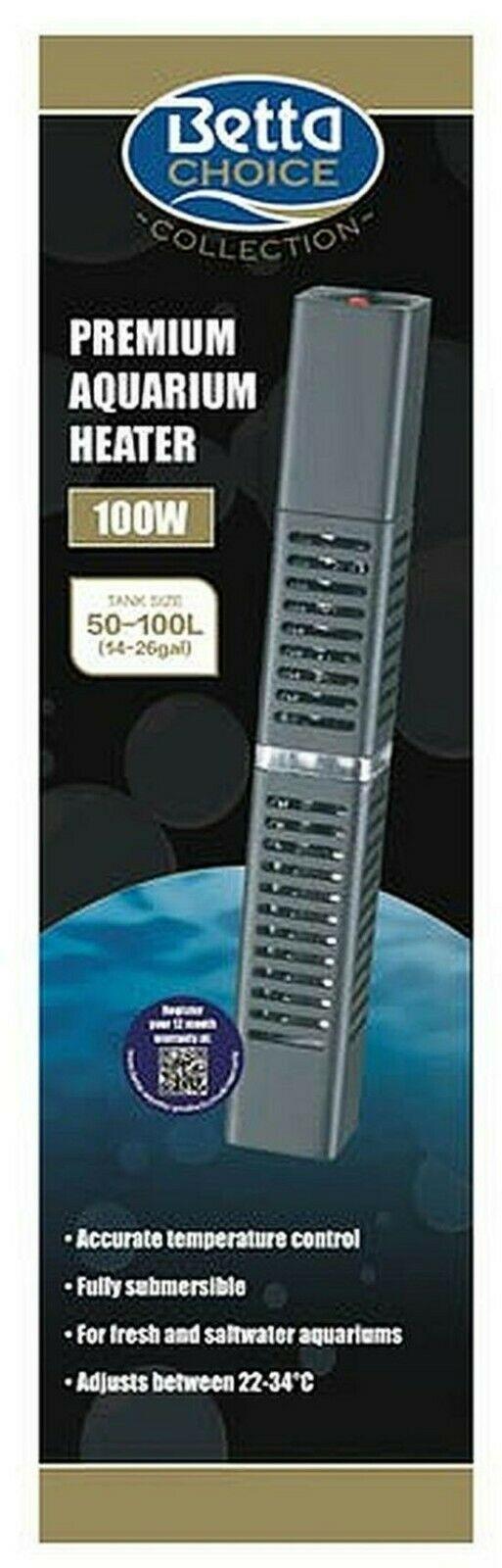 Betta Premium Aquarium Heater 100w